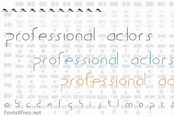 Guild of Professional Actors Font