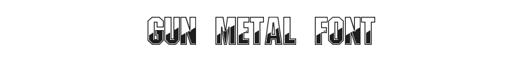 Gun Metal Font Preview