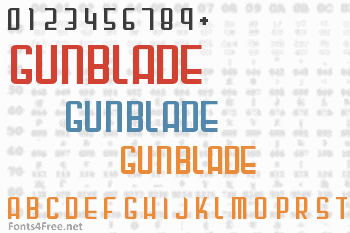 Gunblade Font