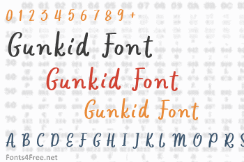 Gunkid Font