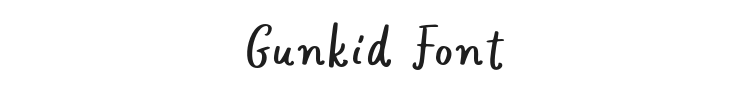 Gunkid Font Preview