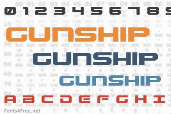 Gunship Font