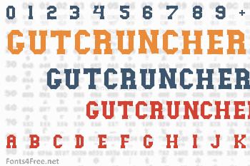 Gutcruncher Font
