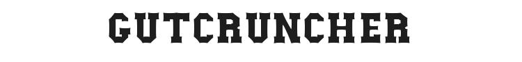Gutcruncher Font Preview
