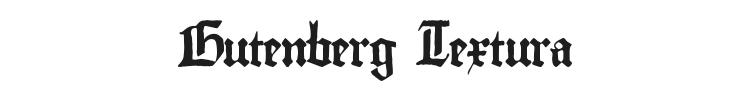 Gutenberg Textura Font