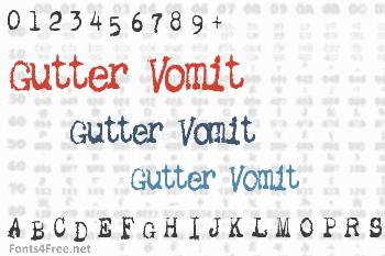 Gutter Vomit Font