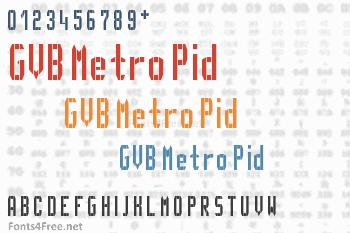 GVB Metro Pid Font
