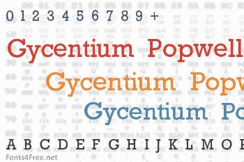 Gycentium Popwell Font