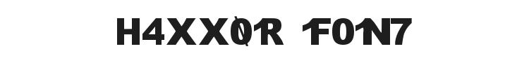 H4XX0R Font Preview