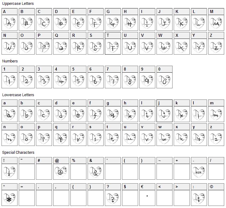 ha- Font Character Map