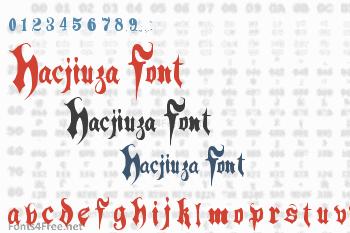 Hacjiuza Font