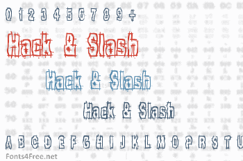 Hack & Slash Font
