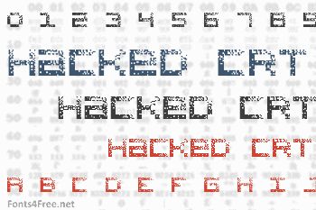 Hacked CRT Font