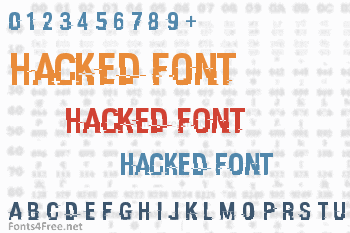 Hacked Font