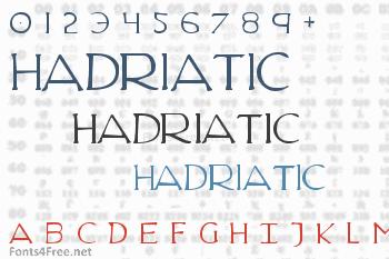 Hadriatic Font