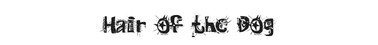 Hair of the Dog Font Preview