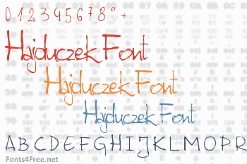 Hajduczek Font