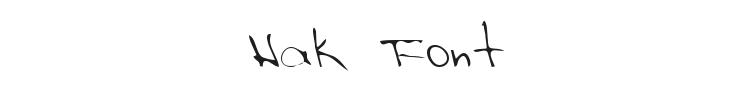 Hak Font Preview