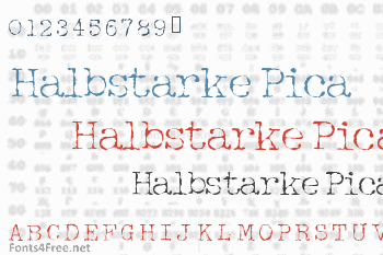 Halbstarke Pica Font