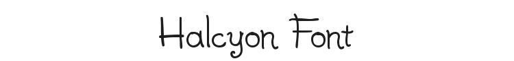 Halcyon Font Preview