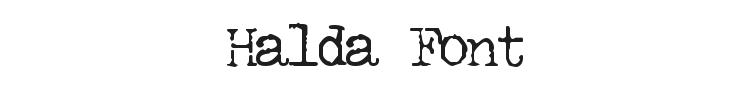 Halda Font Preview