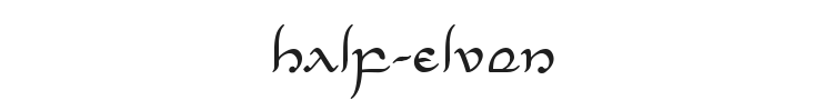 Half-Elven Font Preview