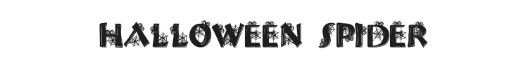 Halloween Spider Font Preview