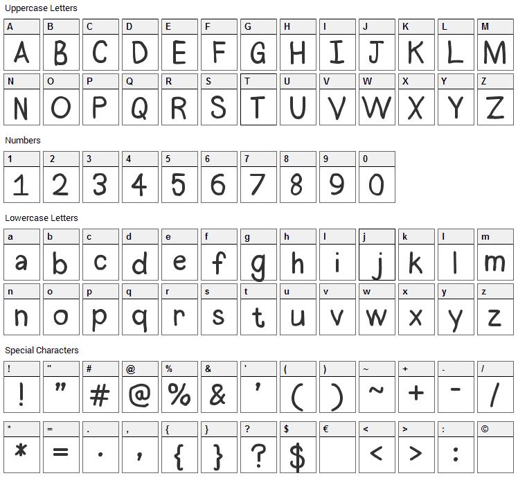 Halogen Font Character Map