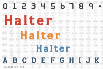Halter Font