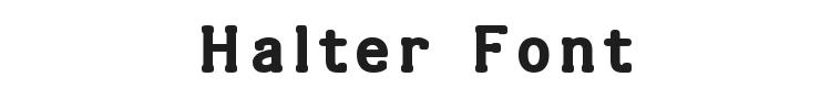 Halter Font Preview