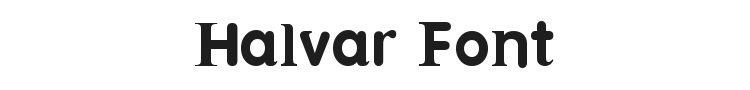 Halvar Font Preview