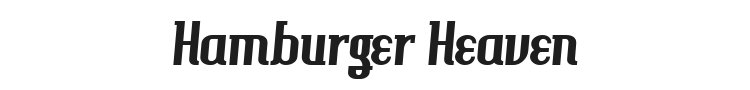 Hamburger Heaven Font