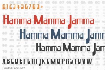 Hamma Mamma Jamma Font