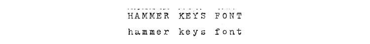 Hammer Keys Font Preview