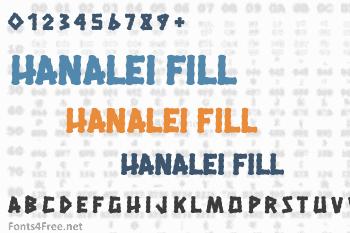 Hanalei Fill Font