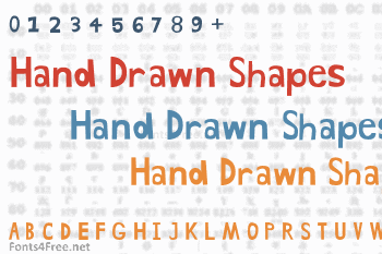 Hand Drawn Shapes Font