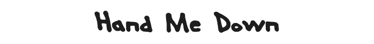 Hand Me Down Font