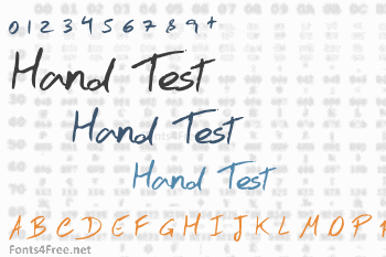 Hand Test Font