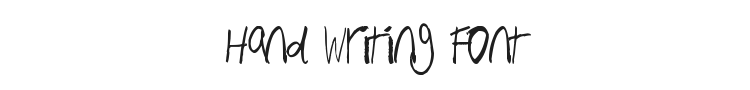 Hand Writing Font Preview