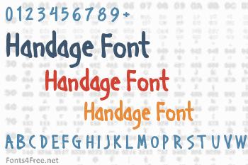 Handage Font