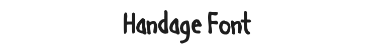Handage Font Preview