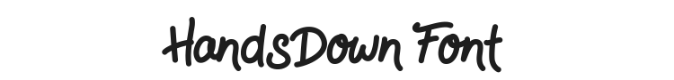 HandsDown Font Preview