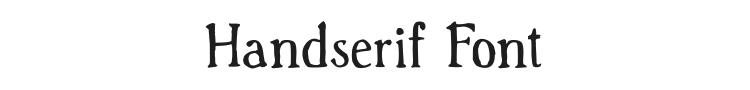 Handserif Font Preview