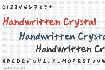 Handwritten Crystal Font