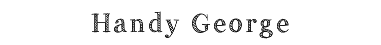 Handy George Font Preview