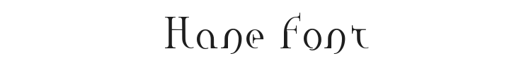 Hane Font Preview