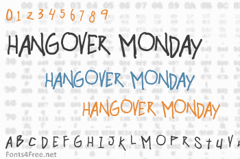 Hangover Monday Font