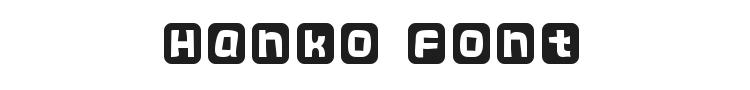 Hanko Font Preview