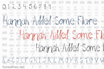Hannah Added Some Flare Font