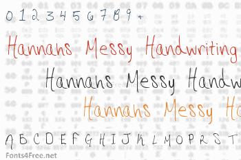 Hannahs Messy Handwriting Font
